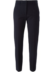 Piazza Sempione Cropped Tapered Trousers Blue