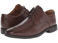 Clarks Un.Bizley Plain Dark Brown Leather Men's Lace Up Wing Tip Shoes