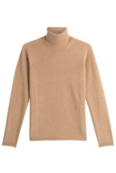 Max Mara Virgin Wool Turtleneck Pullover With Cashmere Camel