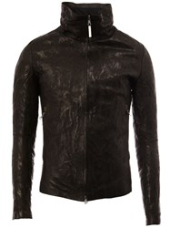 Isaac Sellam Experience High Neck Leather Jacket Black