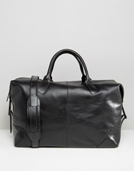 Royal Republiq Leather Supreme Holdall Bag In Black Black