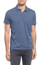 Robert Barakett Men's 'Bertrand' Pima Cotton Jersey Polo Vintage Blue