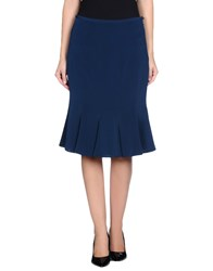Renato Balestra Skirts Knee Length Skirts Women Slate Blue