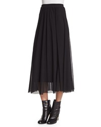 Long Full Mesh Skirt Black Fuzzi