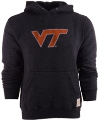 Retro Brand Men's Virginia Tech Hokies Tri Blend Hoodie Black