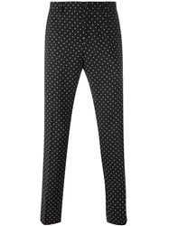 Dolce And Gabbana Polka Dot Print Trousers Black