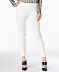 Bar Iii Side Zip Skinny Pants Only At Macy's Washed White