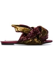 N 21 Nao21 Sequined Sliders Pink And Purple