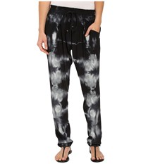 Gypsy05 Silk Perfect Pants With Drawstring Black Women's Casual Pants