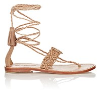 Ulla Johnson Women's Javi Lace Up Sandals Nude