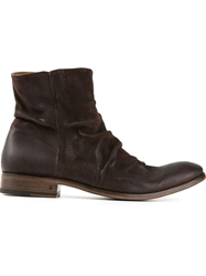 John Varvatos Creased Ankle Boots Brown