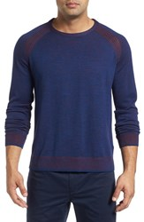 Robert Graham Men's Filberto Sweater Heather Navy