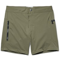 Everest Isles Draupner Mid Length Swim Shorts Green
