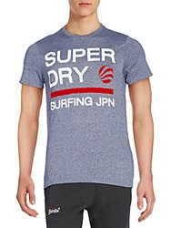 Superdry Extended Wave Graphic Tee Super Marine