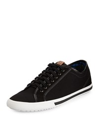 Ben Sherman Connall Lo Canvas Sneaker Jet Black