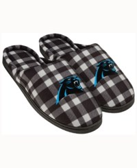 Forever Collectibles Carolina Panthers Flannel Slide Slippers Black