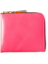 Comme Des Garcons Two Colour Zip Wallet Pink And Purple