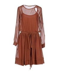 Lou Lou London Short Dresses Brick Red