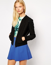 Finders Keepers Wake Up Call Bomber Jacket Black
