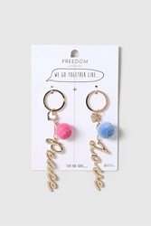 Love Best Friends And Peace Keyrings Gold