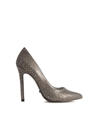 Blink Point Jewelled Court Shoes Pewter
