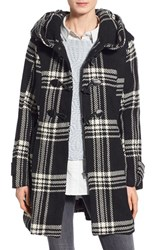 Women's Steve Madden Check Plaid Toggle Duffle Coat