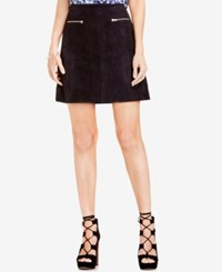 Vince Camuto Two By Faux Suede Fit And Flare Mini Skirt Rich Black
