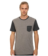 Rvca Change Up Crew Grey Noise Men's Short Sleeve Pullover Gray