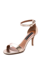 Steven Vienna Metallic Sandals Gold