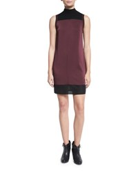 Rag And Bone Vivienne Chiffon Colorblock Shift Dress Port