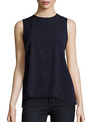 French Connection Nightsky Polly Nocturnal Sequined Shell Top