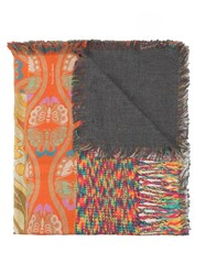 Pierre Louis Mascia Fringed Printed Scarf Multicolour