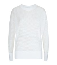 Dkny Mesh Knit Sweater Female White