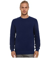 French Connection Mchevron Mozart Knits Blue Depths Men's Sweater