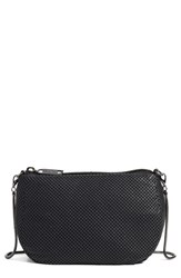 Whiting And Davis 'Matte' Mesh Crossbody Bag Black Matte Black