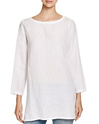 Eileen Fisher Petites Boat Neck Tunic White