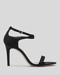Reiss Open Toe Sandals Gelda High Heel Black