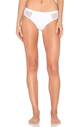 Alexander Wang Mesh And Matte Tricot Bikini Bottom White