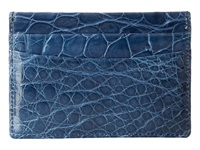 Trafalgar American Alligator Case Blue Credit Card Wallet