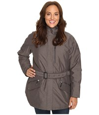Columbia Plus Size Carson Pass Ii Jacket Mineshaft Women's Coat Gray