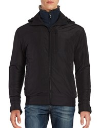 Weatherproof Rugged Oxford Bomber Jacket Black
