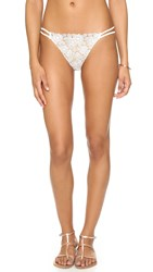 For Love And Lemons Valencia Bikini Bottoms White