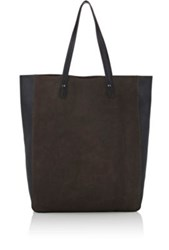 Barneys New York Women's Leather Tote Bag Grey