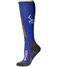 Spyder Sport Merino Sock Bln Voila White Women's Knee High Socks Shoes Blue