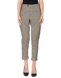 M.Grifoni Denim Trousers Casual Trousers Women Grey