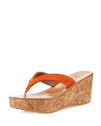Diorite Cork Wedge Sandal Naranja K. Jacques