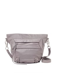 She Lo Rise Above Perforated Leather Bucket Bag Grey