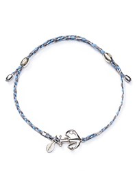 Alex And Ani Precious Metals Anchor Expandable Thread Bracelet Light Blue