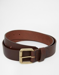 Barbour Matte Leather Belt Brown