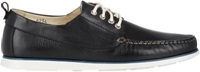 Barneys New York Lace Up Boat Shoes Black